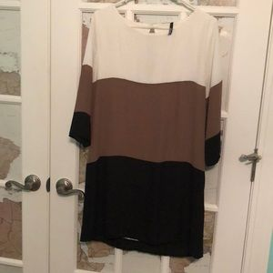 Lulus Color Block Shift Dress